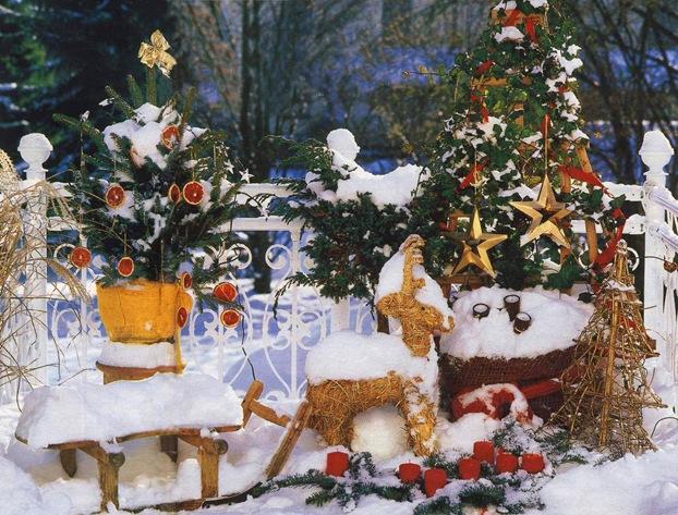 Елка в горшке - часть новогодней композиции